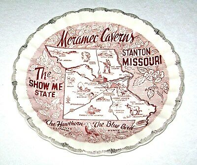 Vintage Missouri The Show Me State Collector Plate Featuring Meramec Caverns