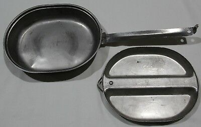 Original Military 1982 Dated G.i. Stainless Steel Messkit