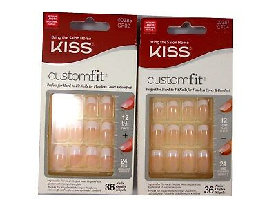 Kiss Custom Fit 36 French False Nails buy 2 get 1 free (put 3 in basket)