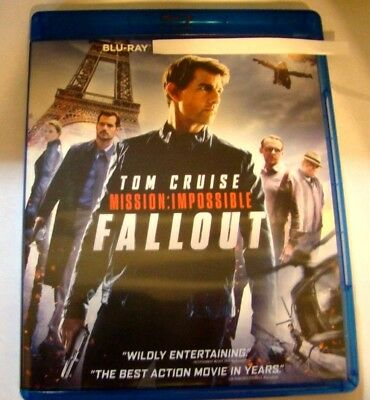 "Mission Impossible Fallout "" Blu-Ray Movie, Blu-ray Bonus Disc Artwork Slipcover"