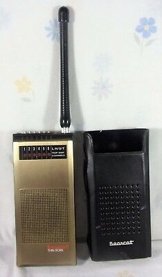 Vintage Early Bearcat Walkie Talkie Radio 4-Band 6 Channels Thin Scan w-Case