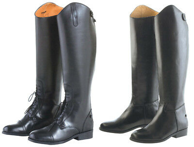 Dublin Aristocrat Long Leather Riding Boots Dressage Dress Top Or Laced Field