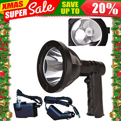Handheld 1600W SPOTLIGHT CREE LED Handheld Work Search Spot Light 12v Plug RA
