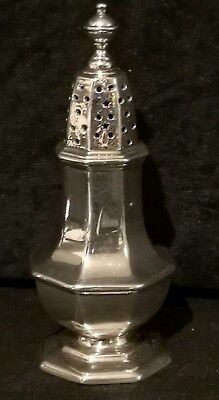 Chester Stokes & Ireland Hallmarked Solid Sterling Silver pepper pot heavy quali