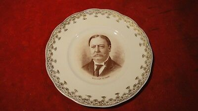 "Great President William H Taft Collectible 8 1/8"" Plate With His Likeness"