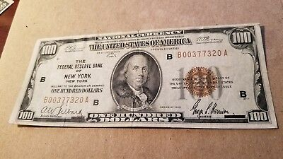 $100 1929 New York Federal Reserve Bank Note Choice Extremely Fine