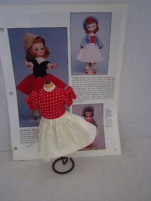 Vintage 8 Betsy McCall Homemade OOAK Co-ED Dress READ Puffed Sleeves White Skirt