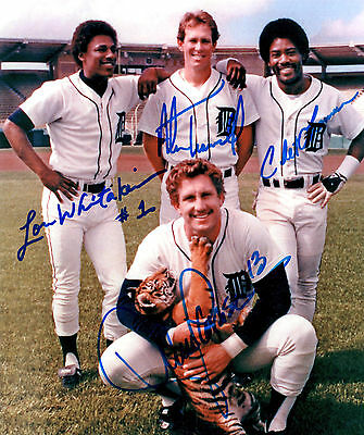 Detroit Tigers 1984 Legends reprinted 8x10 autograph signed photo Alan Trammell#