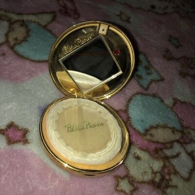 Paloma Picasso Refillable Mirror Compact Gold Tone Vintage Lovely!
