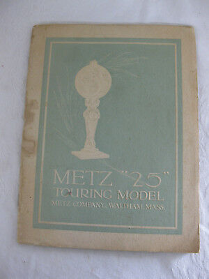 Original Circa 1915 METZ 25 TOURING MODEL Sales BROCHURE Waltham Mass