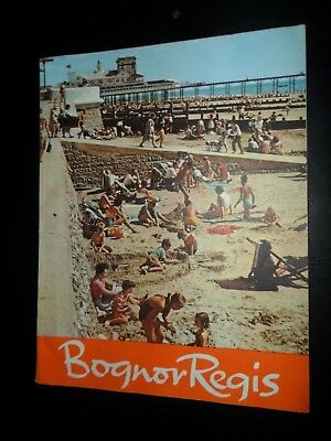 Bognor Regis Holiday Brochure 1960`s Good Condition 92 Pages