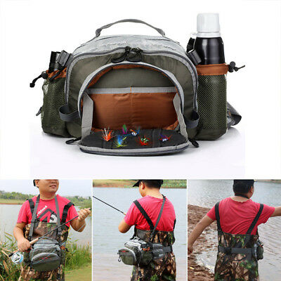 Waterproof Fishing Lure Bag Chest Bag Shoulder Bag Waist Bag Handbag Fly Fishing