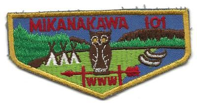 MIKANAKAWA OA LODGE 101 - F-? FLAP - unsewn -  Boy Scout BSA 11-4