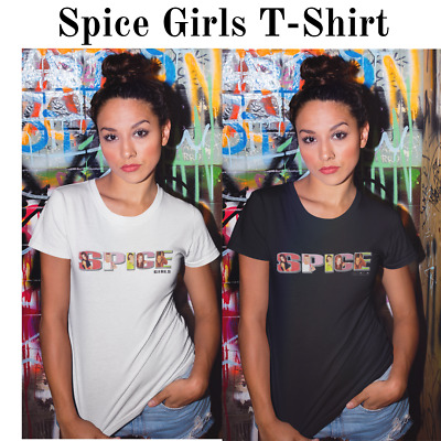 Spice Girls Spice World UK Tour 2019 Girl Pop Band Logo Tee/T-Shirt Print Shirt