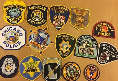 Vintage Mixed State Police Patches. Lot Of 22.