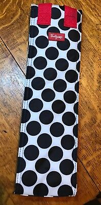 Thirty One Perfect Bottle Thermal Tote Wine Cooler Bag Black Polka Dot