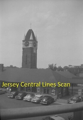 Jersey Central Lines Original B&w Railroad Negative Of Elizabeth Nj Station 1958