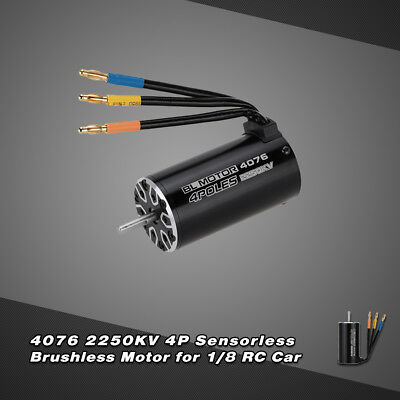 4076 2250KV  4P Sensorless Brushless Motor for 1/8 RC  Truck P8L1