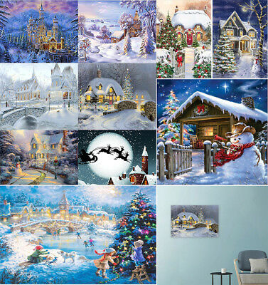 10 Kind Xmas Landscape 5D Diamond Painting Bird Embroidery Cross Stitch Gift WZ