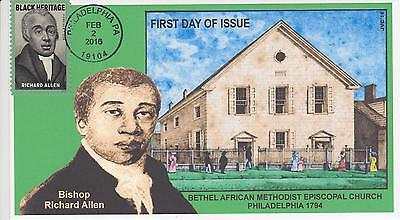 Jvc Cachets-2016 Richard Allen Issue First Day Cover Fdc Style #1 Black Heritage