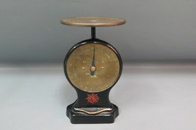 Antique Salter Letter Balance No. 11 Scale Brass Dial Black Painted