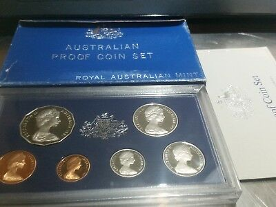 Royal Australian Mint 1981 Six Coin Proof Set in Case w/ box and insert