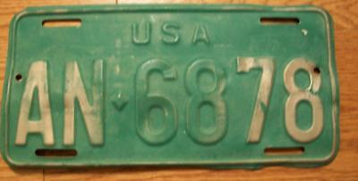 Single U.s. Forces In Germany License Plate - 1966/73 - An-6878