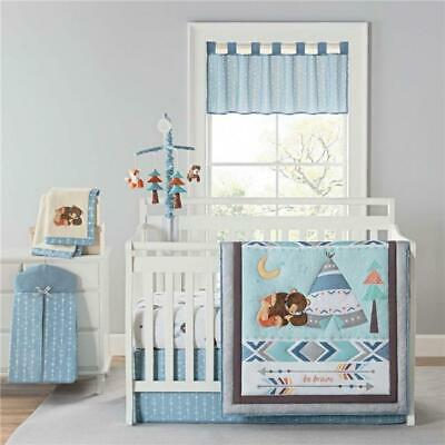New Country Home 6062A 4 Piece Be Brave Crib Bedding Sheet Set - 18x13x5.5 in.