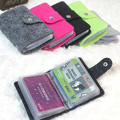 Ladies Womens Mens Slim ID Credit Card Holder Case Purse Protector Pocket Wallet