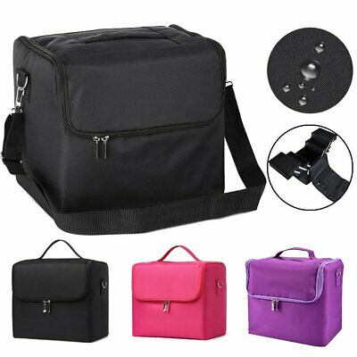 Extra Large Vanity Case Beauty Box Make up Pink Cosmetic Nail Tech Storage Bag