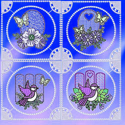 Elegant Blue Birds 12 Machine Embroidery Designs Cd 3 Sizes Included