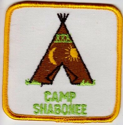 New Girl Scouts Patch Camp Shabonee Teepee