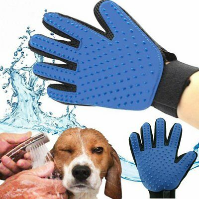 Dog Cat Pet Grooming Glove Brush Loose Hair Remover Fur Massage Removal Tool