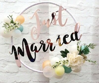 Hochzeit Girlande Just Married Vintage Deko Dekoration Candy Bar