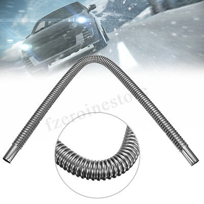 60cm Stainless Steel Car Parking Air Diesel Heater Exhaust Pipe Hose Tube Vent