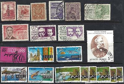 Lot of 21 MEXICO used stamps  EARLY AND RECENT