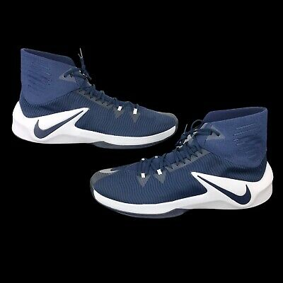 c133ef8b45a2e Nike Zoom Clear Out Basketball Shoes Men's Size 17.5 Navy/White 856486-