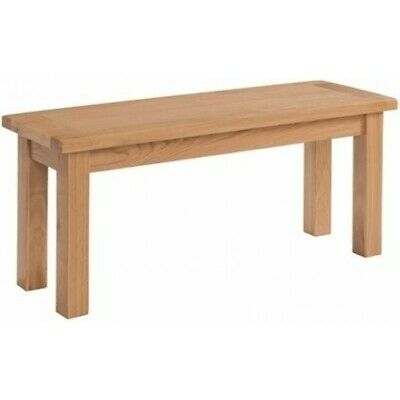 Appleby Oak Furniture Hallway Entryway Large Chunky Solid Wood Bench Seat