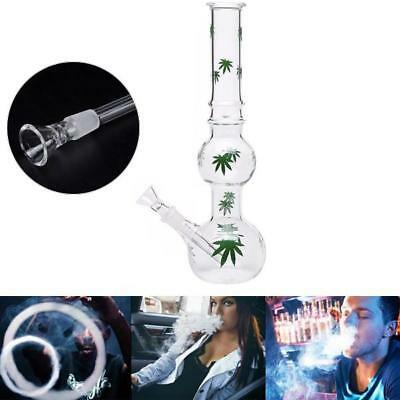 11'' Retro Maple Leaf Hookah Smoking Shisha Tobacco Pipes Bowl Water Glass Bong