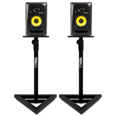 Gorilla Stands Adjustable Home Studio DJ Studio Monitor Speaker Stand (Pair)