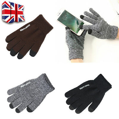 Mens Women Thermal Insulation Touch Screen Winter Warm Gloves Mittens Fashion