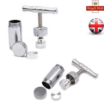 "4.5""T Heavy Duty Aluminium Cylinder Bar Pollen Press Dry Herb Tobacco Compressor"
