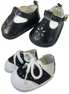 Black T-Strap + Saddle Shoes made for Bitty Baby + Twins Doll Clothes