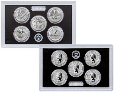2018-S Silver 5 Coin Set Reverse Proof ATB Quarters From Set OGP SKU56422