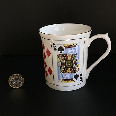 Queens Fine Bone China Playing Cards Mug Cut For Coffee