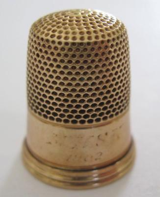 Antique 14K Gold Thimble Dated 1902