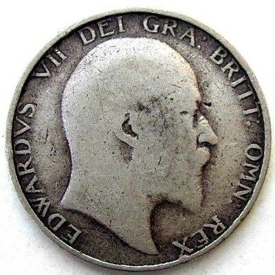 Great Britain Uk Coins, One Shilling 1902, Edward Vii, Silver 0.925