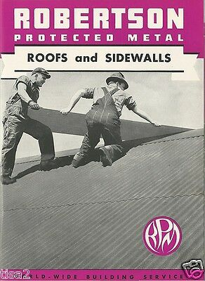 1940 H H ROBERTSON Catalog ASBESTOS Protected Metal Roofing History & Products