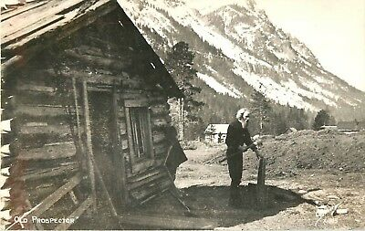 Gold Prospector, Wyoming, Sanborn Real Photo Postcard/RPPC
