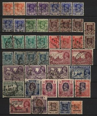 Burma Collection 43 KGVI Stamps Used
